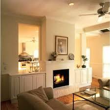 two sided fireplace inside outside double inserts gas masonry