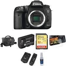 canon eos 7d mark ii dslr camera body with basic photo kit b u0026h