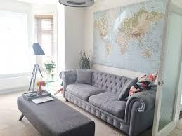 Grey Fabric Chesterfield Sofa by Branagh 3 Seater Chesterfield Sofa Midnight Grey Velvet Made Com