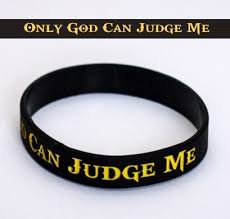 bracelet silicone images Only god can judge me motivational silicone bracelet jpg