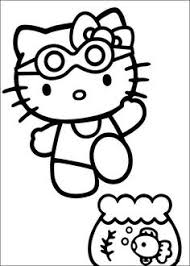 kitty holding balloons kitty coloring pages
