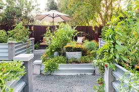 corrugated metal ideas landscape farmhouse with raised planters