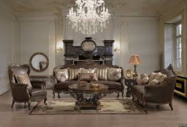 European Living Room Furniture Traditional European Design Formal Living Room Sofa Set W Fabric