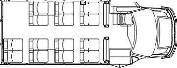 school bus floor plan busstore com floor plans 5 15 passenger bus handicap