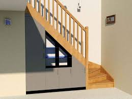Placard Sous Escalier Avec Tablettes Aménagement Sous Escalier Quart Tournant Partie 2