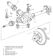repair guides front drive axle halfshaft bearing and seal