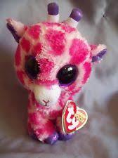 ty 15cm pink twigs beanie boos giraffe soft toy plush cuddly