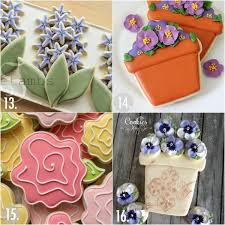 Cookie Decorating Tips Twenty Decorated Flower Cookie Tutorials For Mother U0027s Day U2013 The