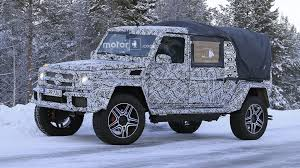 2018 mercedes g class 4x4 spied as double cab pickup