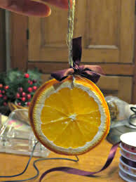 just saying how to make dried orange slice christmas decorations