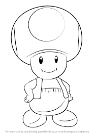 learn draw toad super mario super mario step step