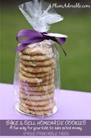 bake sale cookies and free printable tags the frugal