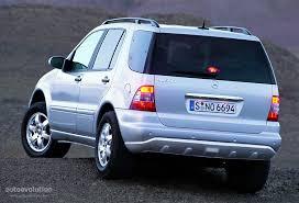 ml mercedes mercedes ml klasse w163 specs 2001 2002 2003 2004