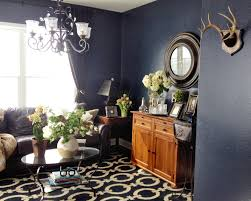 love the textured dark blue walls in benjamin moore witching hour