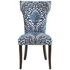 damask chair carmilla blue damask dining chair pier 1 imports