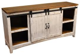 Media Console With Hutch Rustic 68