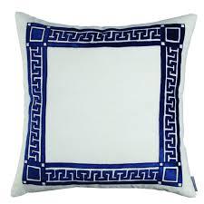 Navy Velvet Cushion Lili Alessandra Jon L Navy Tailored Sophistication Bedding Collection