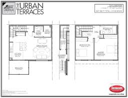 Cascade Floor Plan by Urban Terraces The Cascade Unit 1531 Campanale Homes