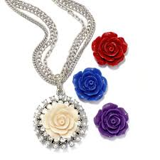 necklace gift sets images Interchangeable roses necklace set floral necklaces sweet romance jpg