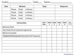 daily behavior report template rti behavior documentation intervention progress monitoring form