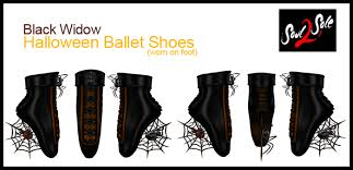 Black Widow Halloween Costumes Marketplace S2s Black Widow Ballet Shoes