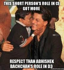Short Person Meme - this short person s role in ce got more respect than abhishek