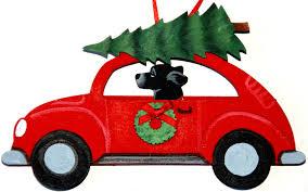 black labrador hippie car ornaments for the