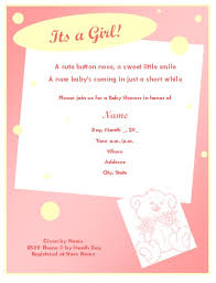 baby shower invitation template for