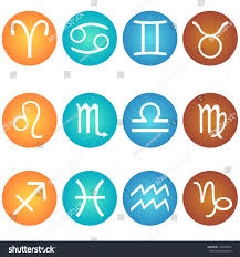 vector set zodiac sign color elements stock vector 173085416