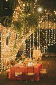 image result for hanging fairy lights wedding deko im garten