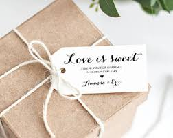 Thank You Tags Wedding Favors Templates by Is Sweet Tags Etsy