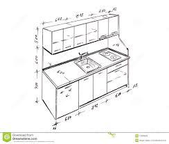 Kitchen Design Sketch Modern Interior Design Kitchen Freehand Drawing 13298949 Jpg 1300