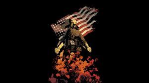 Hd American Flag Hellboy Black Flag American Flag Lobster Johnson Hd Wallpaper