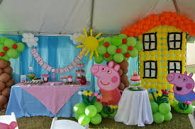 peppa pig decorations birthday party of peppa pig