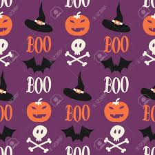 seamless repeat pattern for halloween in orange purple white