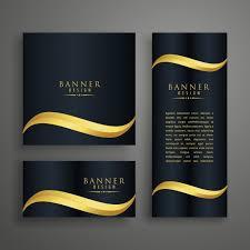 Banner Design Jpg | luxury wavy banner design vector free download