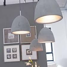 Lampe F Esszimmer Beton Deckenleuchte Mit Details Aus Edel Verchromtem Metall Und