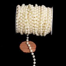 pearl pearl chain garland wedding party bridal bouquet decorative