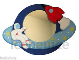 themed mirror boys blast astronaut space rocket space themed wall