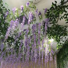 wisteria home decor wedding decor silk fake flower artificial wisteria bouquet home