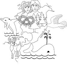 human and animal in days of creation coloring pages human and