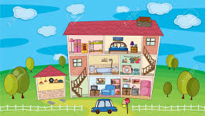 illustration on inside a house royalty free cliparts vectors and