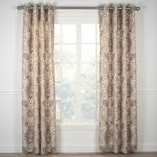 single jules black print window curtain panel wgrommets grommet