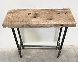 reclaimed wood entry table dwight console table reclaimed wood primitive industrial