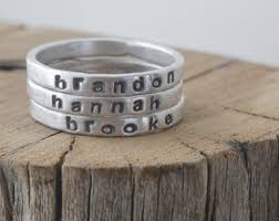 stackable engraved mothers rings personalized ring etsy