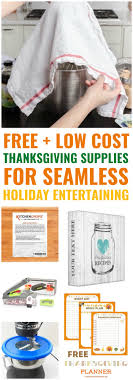 10 free low cost thanksgiving supplies you need for a seamless