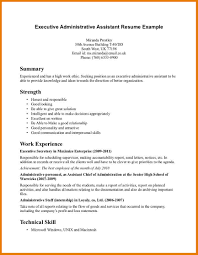 Job Resume Verbs by Cover Letter Administrative Assistant Cover Letter Sample Cover