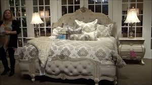 Aico Bed Lavelle Blanc Wing Mansion Bedroom Set By Michael Amini Aico