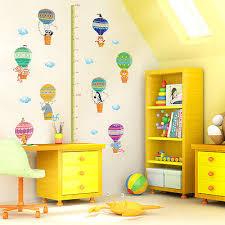 toise chambre b animaux singe toise stickers muraux jungle pépinière bébé chambre