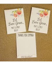 seed packets get the deal let grow wedding favors seed packet favors
